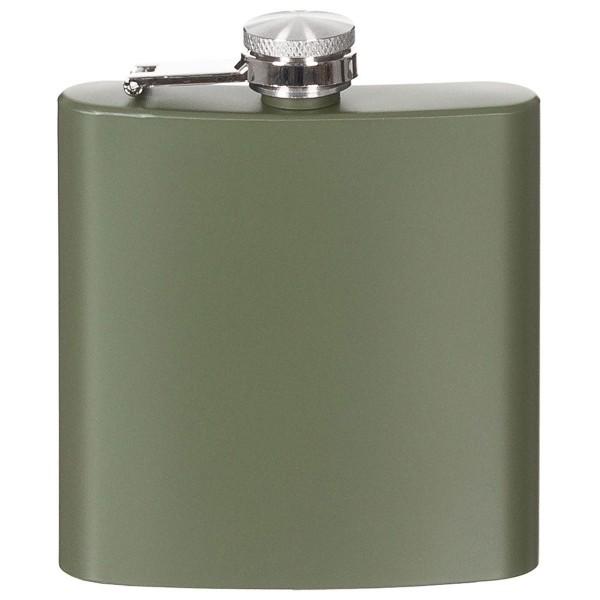 Edelstahl Flachmann 170ml oliv