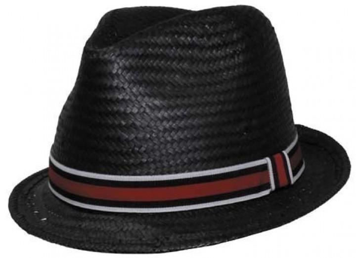 Playershut schwarz mit rotem Band
