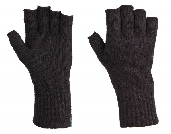 Strick-Handschuhe ohne Finger schwarz