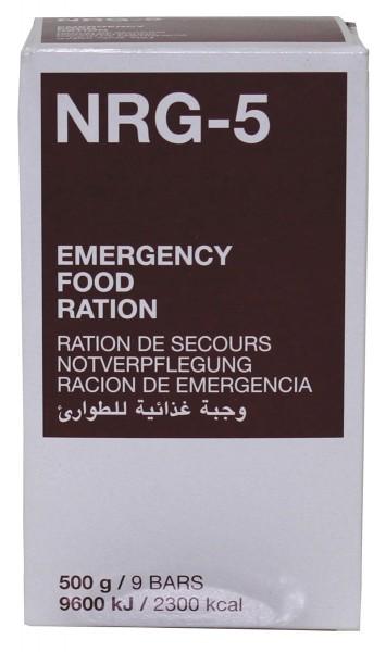 Notverpflegung NRG 5 Riegel - 20 Jahre haltbar!