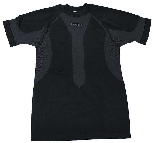 Fox Funktions Unterhemd schwarz kurzarm