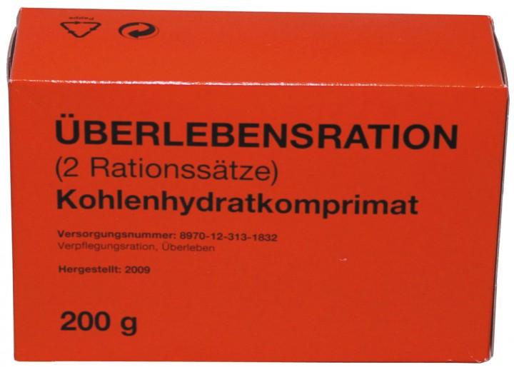 BW Überlebensration Kohlenhydratkomprimat 4 Riegel
