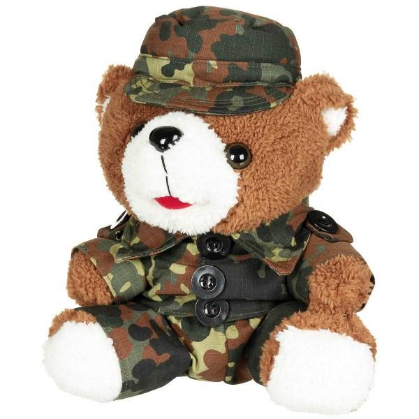 Teddybär flecktarn H=28cm
