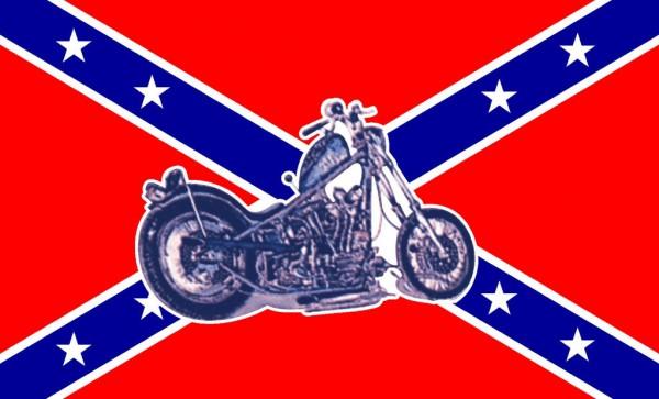Flagge Südstaaten mit Bike