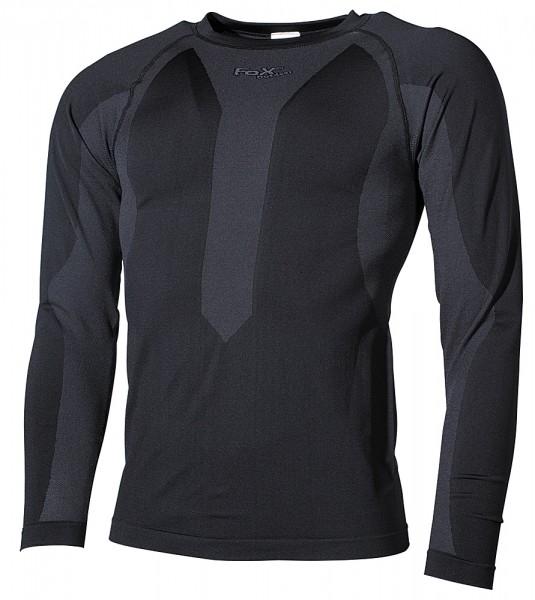 Fox Funktions Unterhemd schwarz langarm