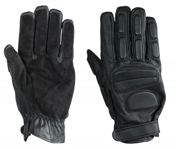 Lederhandschuhe mit Polsterung schwarz