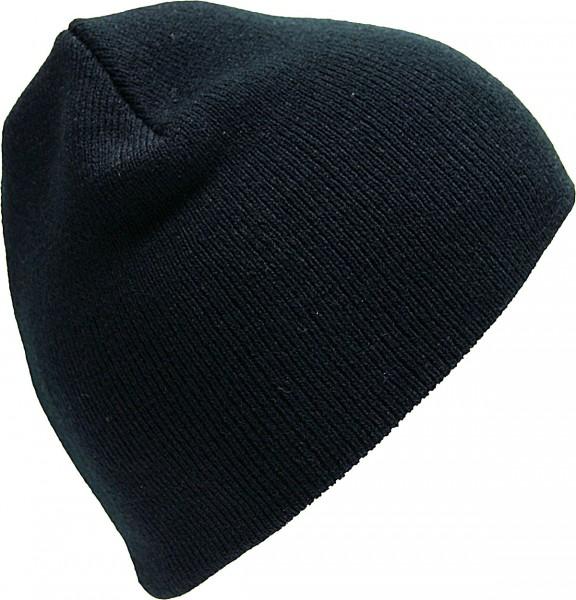 Beanie Strickmütze schwarz