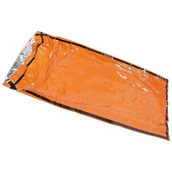 Notfall Biwacksack signal-orange alubeschichtet