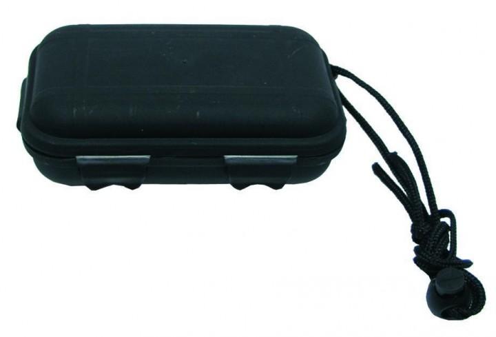 Wasserdichte Kunststoffbox schwarz 13,5x8x3,7cm