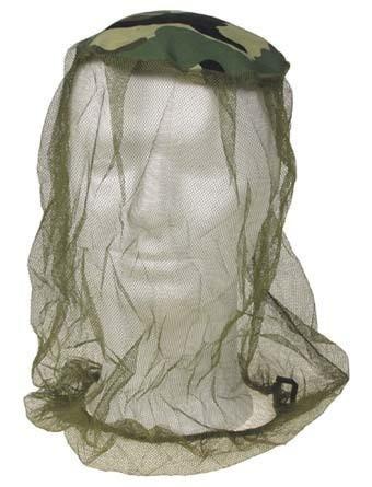 Moskito Kopfnetz mit Stoffeinsatz woodland