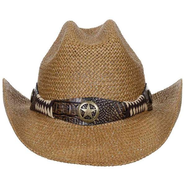 Western Strohhut Georgia mit Hutband