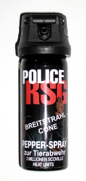 Profi Pfefferspray RSG Police Breitstrahl