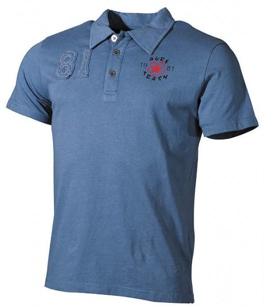 Original Pure Trash 81 Polo-Shirt blau
