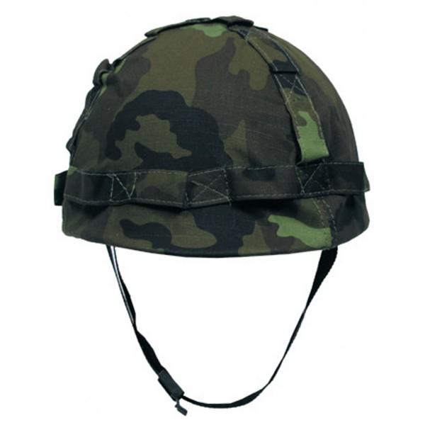 Kunststoff Helm mit Stoffbezug