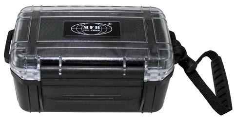Wasserdichte Kunststoffbox schwarz 17x11,5xcm
