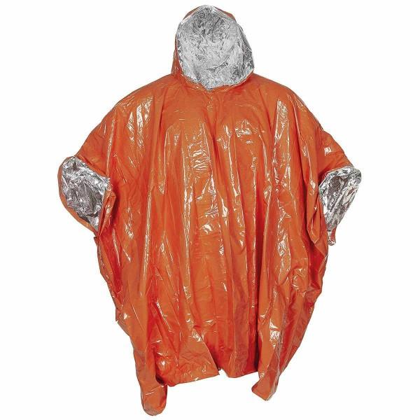 Notfall Poncho alubeschichtet signal-orange