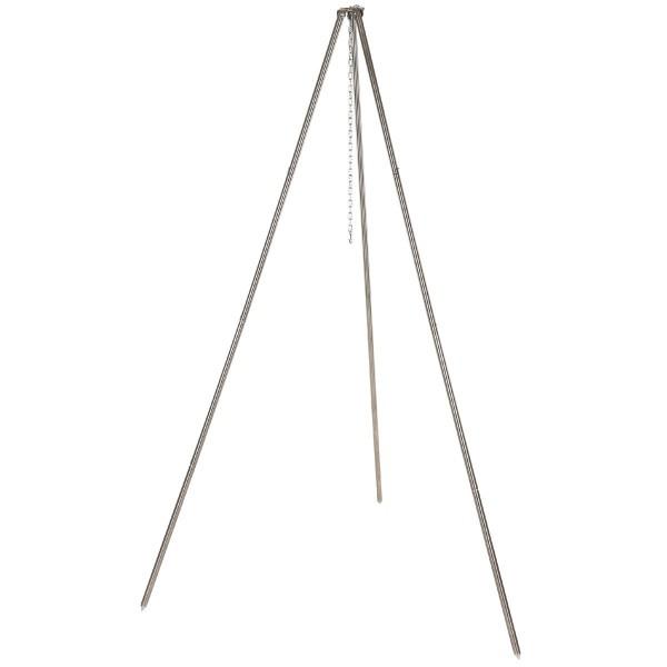 Edelstahl Dreibein für Gulaschkessel und Pfanne Höhe 1,9m