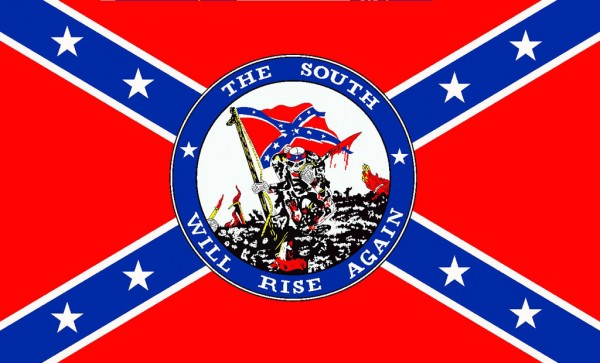 Flagge Rebel - South will rise again