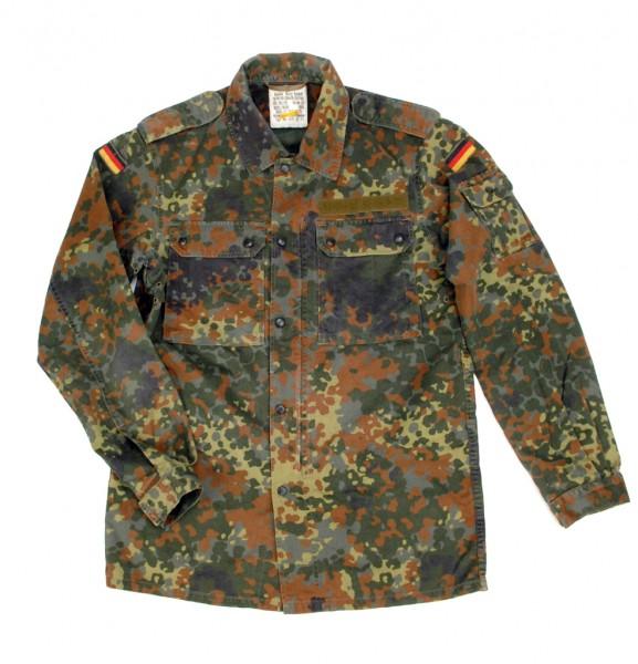 Original Bundeswehr Feld Jacke Feldbluse Flecktarn Feldhemd