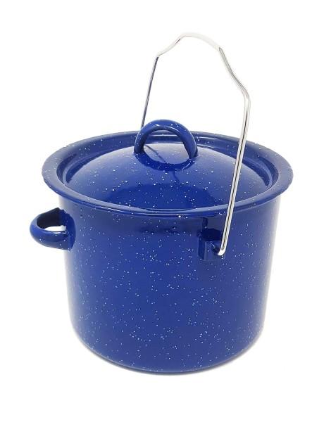 Emaille Kochtopf 3,8 Liter blau