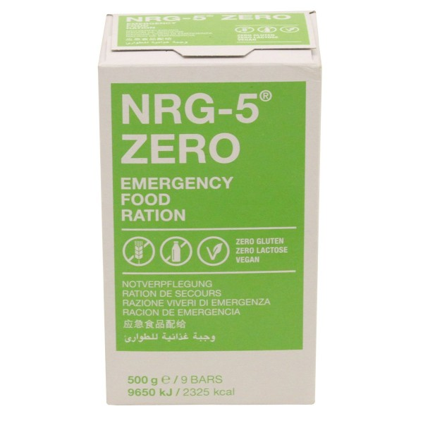 NRG-5 Zero Emergency Food Notration