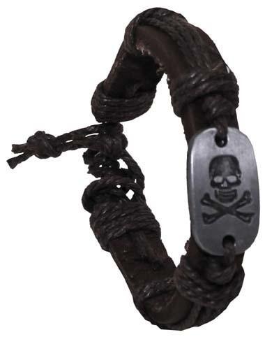 Leder Armband Totenkopf