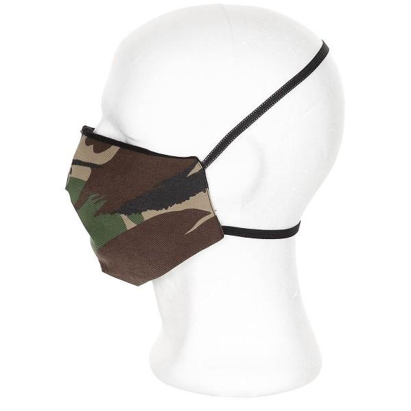 Behelfs Mund-Nasen-Maske mit elastischen Bändern