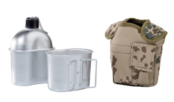 ALU Feldflasche mit Trinkbecher