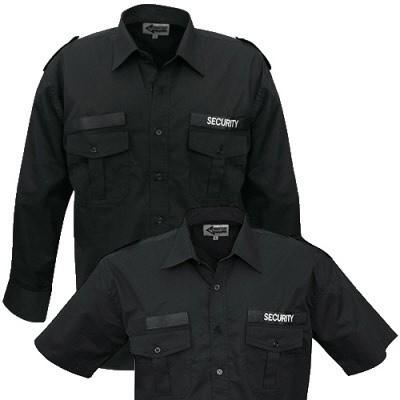 Security Einsatzhemd kurzarm schwarz