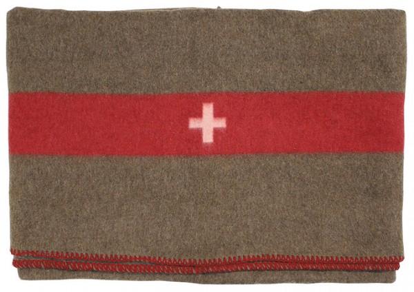Schweizer Wolldecke braun 200x150cm