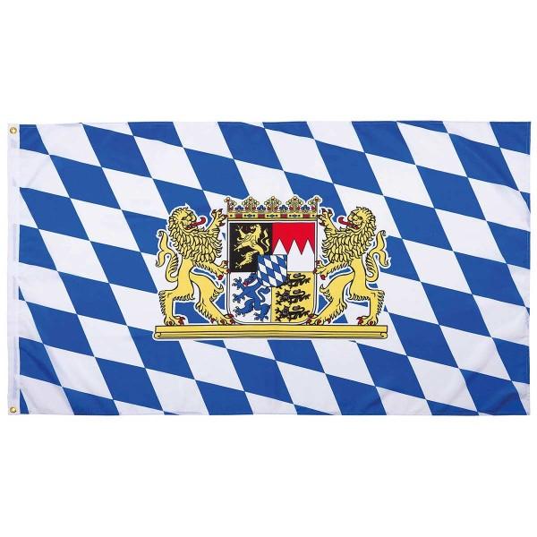 Flagge Bayern mit Löwen