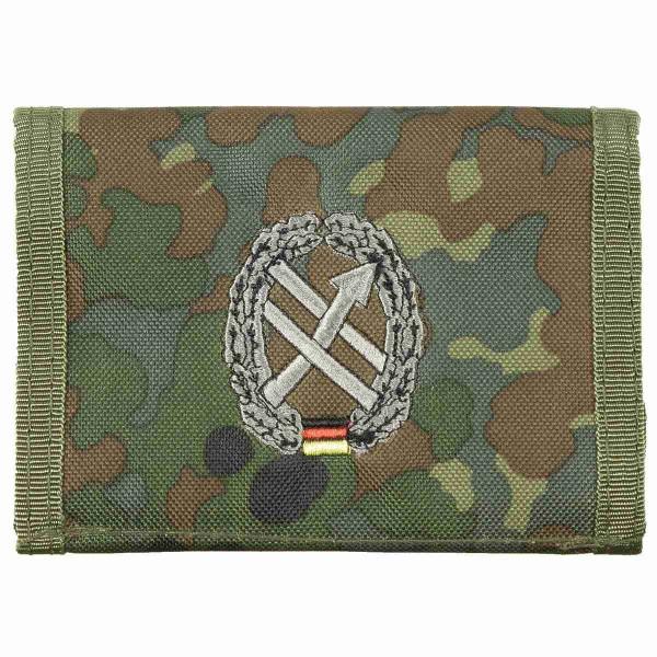 Geldbörse Flecktarn Truppengattungsabzeichen