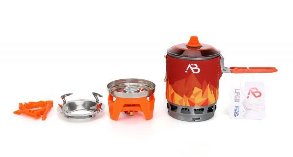 Outdoor Kochsystem AB-3 Deluxe mit Kochtopf und Brenner