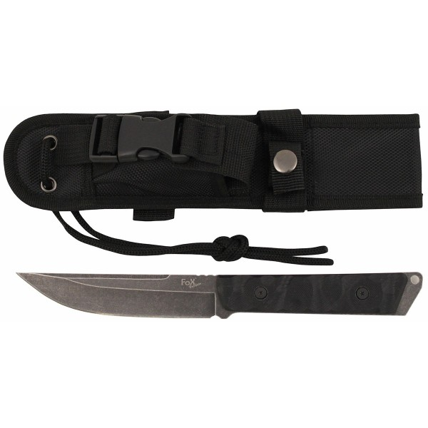 Messer Fighter schwarz mit G10 Griff