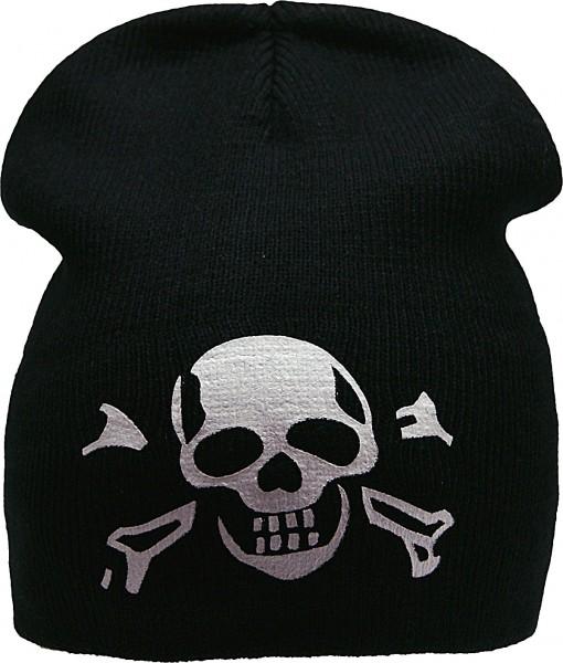 Fox Beanie Mütze mit Totenkopf