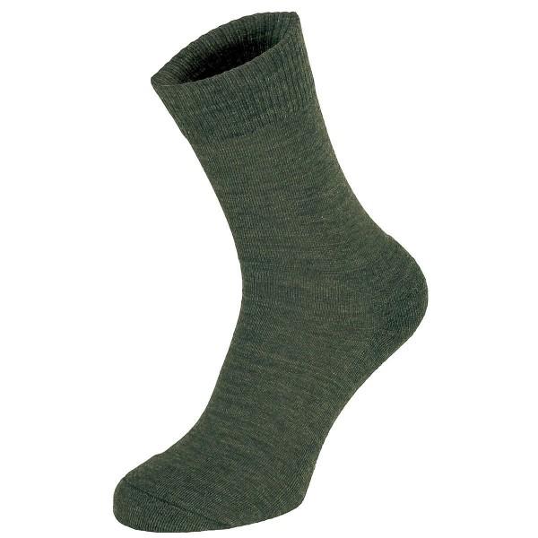 Socken aus Merinowolle schwarz