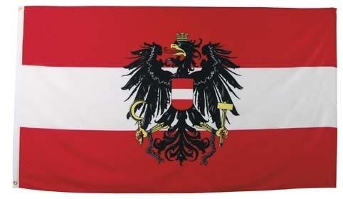 Flagge Österreich mit Adler