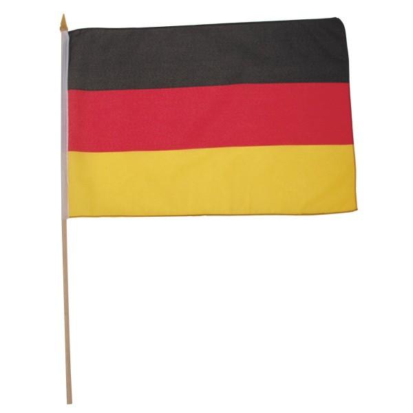 Flagge Deutschland 30x45 am Holzstiel