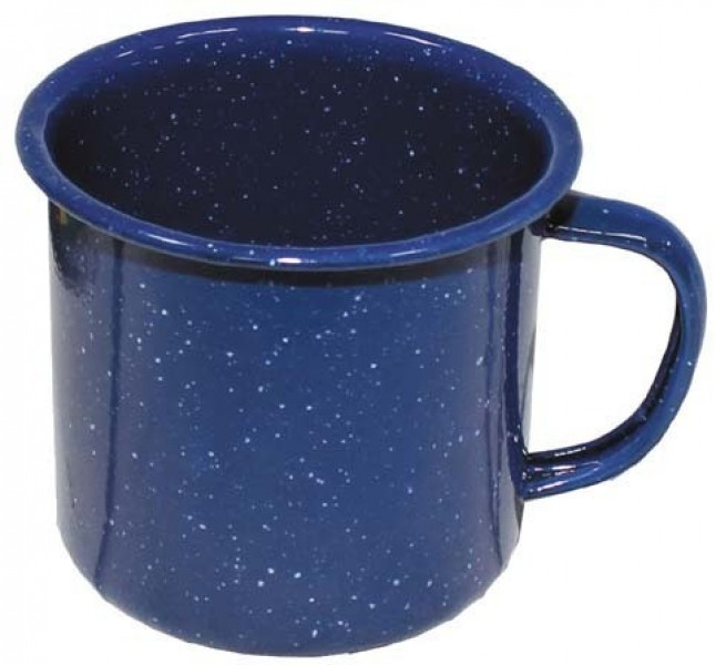 Emaille Western Tasse blau