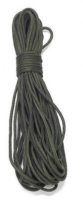 15m Seil 3mm oliv