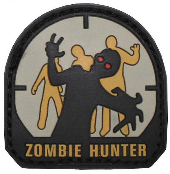 3D Klettabzeichen Zombie Hunter