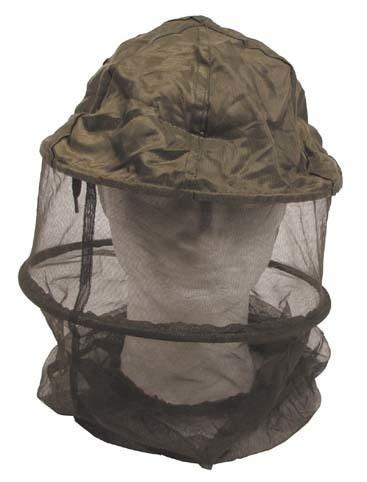 Moskito-Kopfnetz mit Ring oliv