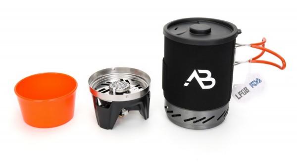Outdoor Kochsystem AB-1 Star mit Kochtopf und Brenner