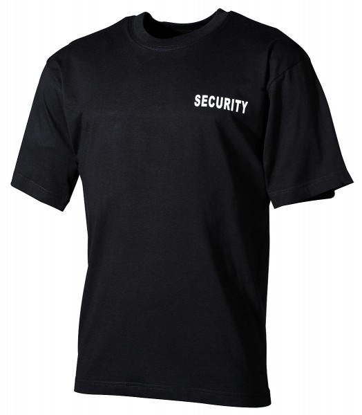 T-Shirt Security schwarz