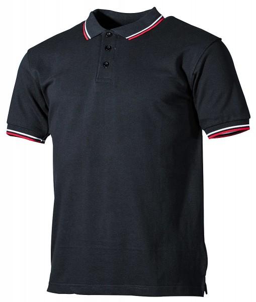 British Poloshirt schwarz-weiß-rot