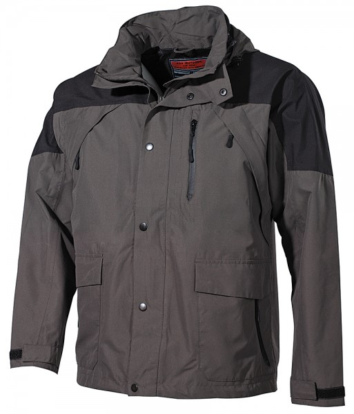 Regenjacke High Mountain schwarz/grün