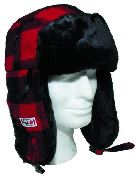 Canadian Holzfällermütze rot/schwarz