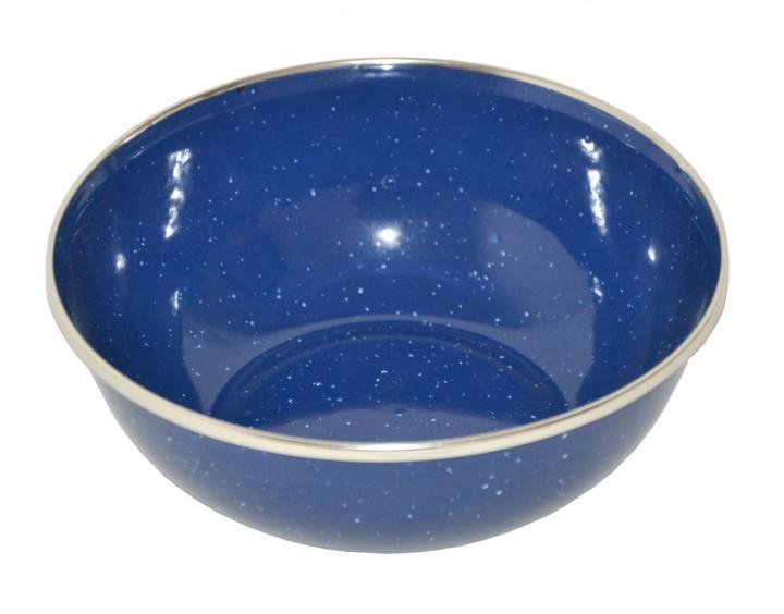 Emaille Suppenschüssel D=15cm mit Chromrand