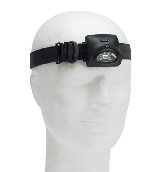 Stirnlampe 3 LED oliv