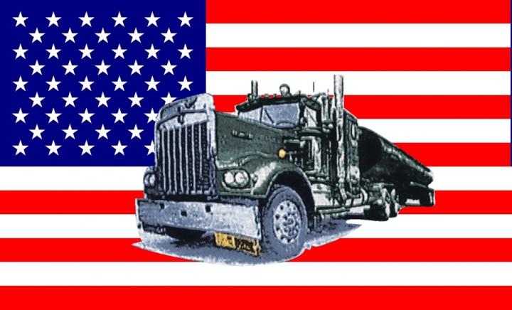 Flagge U.S.A. mit Truck